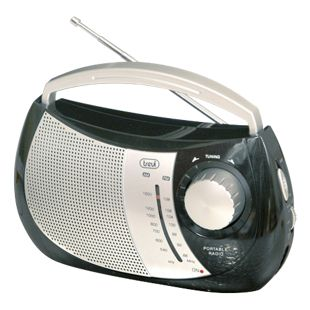 Trevi RA 764 portables 2 Band AM/FM-Radio im trendigen Design - schwarz