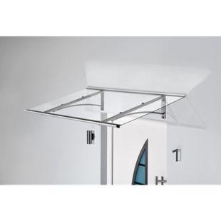 Gutta Typ PT/GR Edelstahl-Pultvordach, 160 x 90 cm, gerade