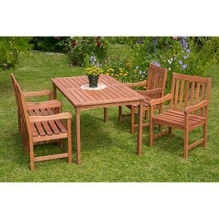 Merxx Tischgruppe Santos 5-tlg., mit 4 Sessel und Tisch 150x90cm