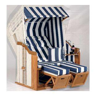 SunnySmart Strandkorb Rustikal 250 Plus Dessin blau-weiß gestreift