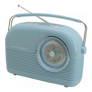 Soundmaster DAB450BL DAB+/UKW Retro Radio - hellblau