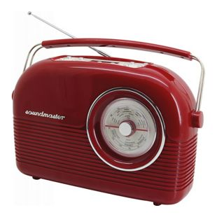 Soundmaster DAB450RO DAB+/UKW Retro Radio - rot