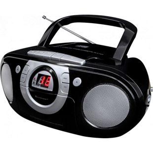 Soundmaster SCD5100SW Radio-Kassettenspieler mit CD-Spieler - schwarz