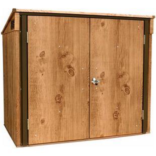 Tepro Mülltonnenbox, Holz-Dekor, eiche