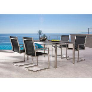 Best Freizeitmöbel Edelstahl Tischgruppe Marbella 5-teilig