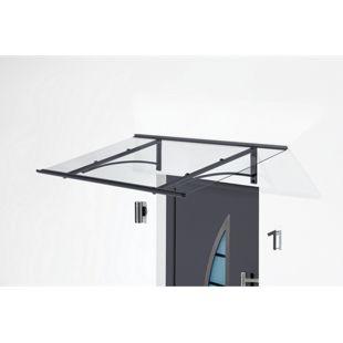 Gutta Typ PT/GR Vordach 160 x 90 cm, gerade
