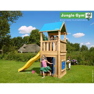 """Jungle Gym® """"Castle Playhouse 125"""" mit Plattform und gelbe Rutsche"""