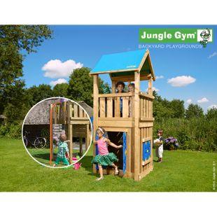 """Jungle Gym® """"Castle Playhouse 125"""" mit Plattform und Feuewehr-Rutschstange"""