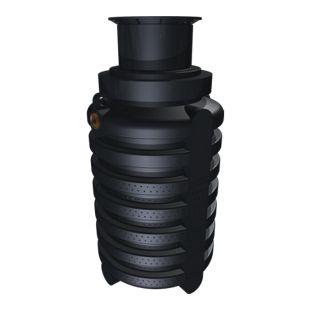 Greenlife Sickerschacht 2.000 Liter Farbe: schwarz mit Schiebedom und begehbarer Abdeckung aus Kunststoff