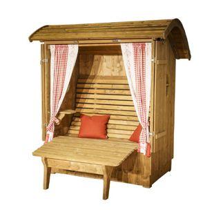 Alpenkorb Relax aus Fichtenholz inkl. Beinauflage