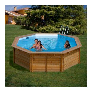 Gre Echtholz-Pool Violette, Ø 511 x 124 cm