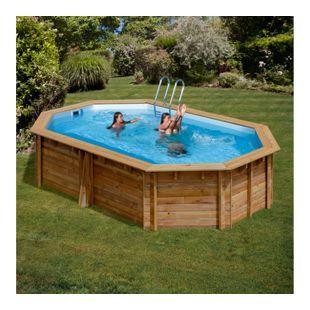 Gre Echtholz-Pool Canelle, 551 x 351 x 119 cm