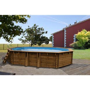 Gre Echtholz-Pool Safran, 637 x 412 x 119 cm