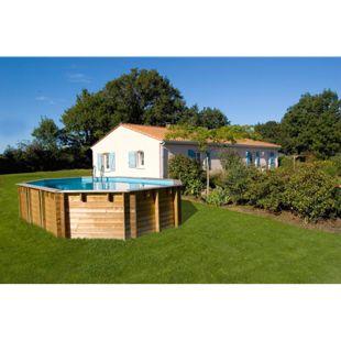 Gre Echtholz-Pool Vermella, 672 x 472 x 146 cm