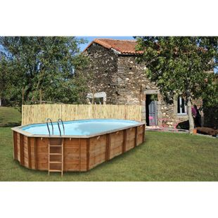 Gre Echtholz-Pool Sevilla, 872 x 472 x 146 cm