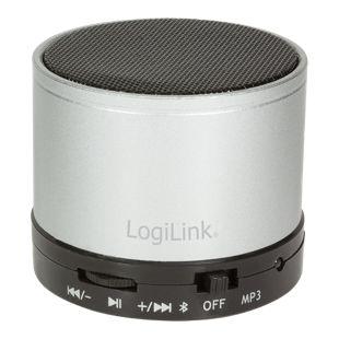 LogiLink SP0051S Bluetooth Lautsprecher mit MP3-Player - silber