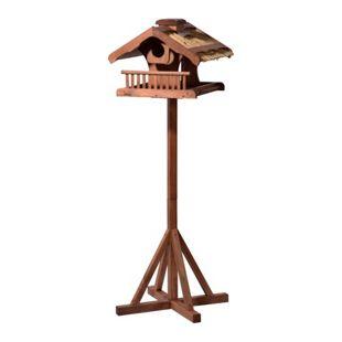Dobar Luxus-Vogelhaus Großes Vogelfutterhaus mit Apfelpicker und Ständer, XXL