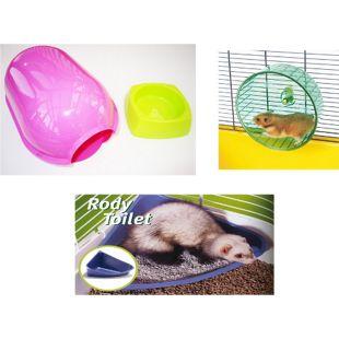 Kleintier-Set für Käfigausstattung