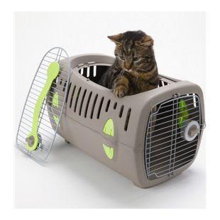 "Transportbox ""Touring deluxe"" Katze, mit Öffnung, Farbe grau"