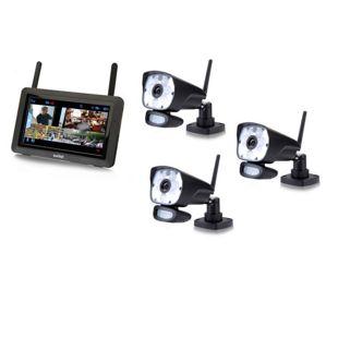 Switel HSIP 6000 digitales Funküberwachungssystem mit LED-Licht – 3 Kameras