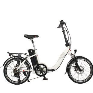 """AsVIVA E-Bike 20"""" Faltrad B13 36V Elektro-Klapprad Elektrofahrrad Pedelec weiß"""
