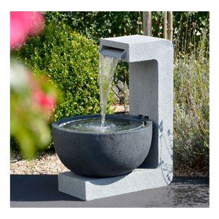 Dobar 96120e Design-Gartenbrunnen mit runder Schale