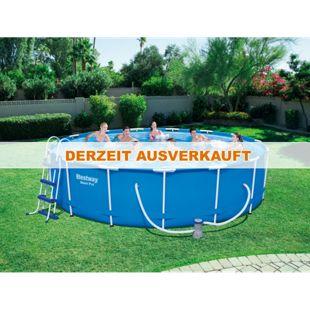 Bestway Frame Steel Pro Pool, 457x107cm im Set mit Filterpumpe