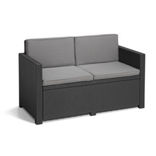 Allibert 2-Sitzer Sofa Monaco, Anthrazit