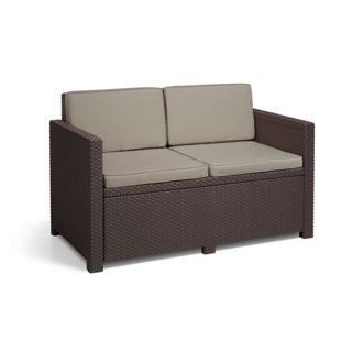 Allibert 2-Sitzer Sofa Monaco, Braun