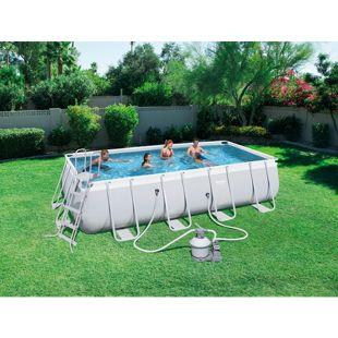 Frame Power Steel Pool, 549x274x122cm im Set mit Sandfilterpumpe und Zubehör