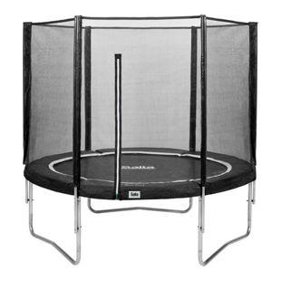 Salta Trampoline - Combo Set - Ø183cm - Trampoline mit Sicherheitsnetz - Schutzrand Farbe: schwarz
