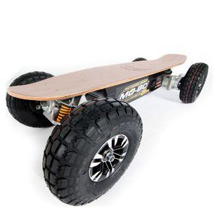 """MO-BO"" Elektro-Skateboard ""Classic Wood"" 1.300 Watt ALL-TERRAIN, Channel Trucks, 36V, Beli-Gel 14Ah"