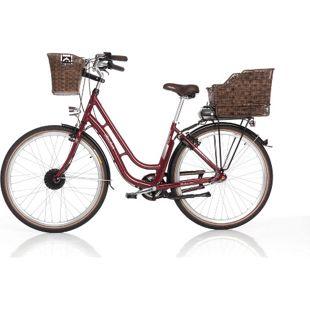 "Fischer E-Bike City Retro Damen 28"" 3-G ER 1804 bordeaux"