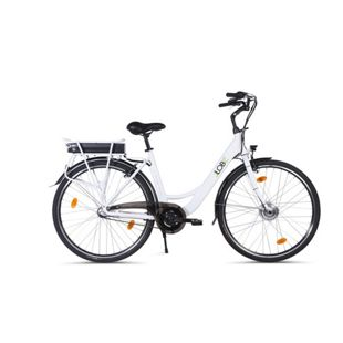 "Llobe 28"" City E-Bike blanche deux"
