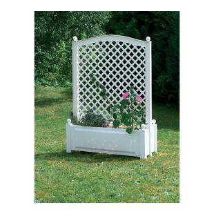 KHW Pflanzkasten mit Zentralspalier 100 cm, weiß
