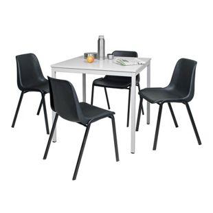 BRB Tischgruppe mit 4 Schalenstühlen