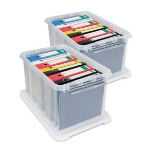 BRB Ordnerboxen mit Deckel 62 Liter, 2er-Set