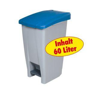 BRB Tret-Abfalleimer 60 Liter, blau