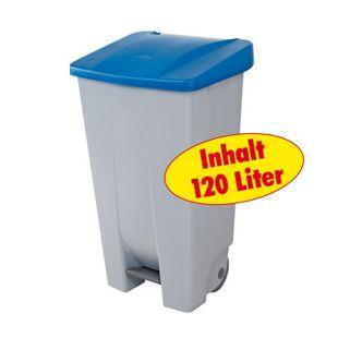 BRB Tret-Abfalleimer 120 Liter, blau