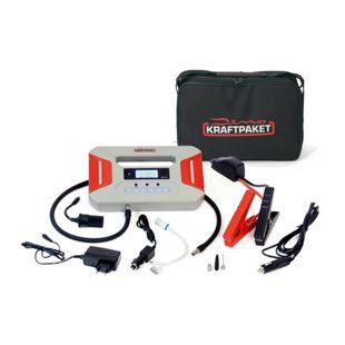 Dino KRAFTPAKET 136235 Starthilfegerät 12 V 600 A mit integr. Kompressor und 16.000 mAh Powerbank