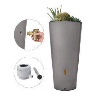4Rain Vaso 2in1 Regenspeicher 220 Liter, Komplettset