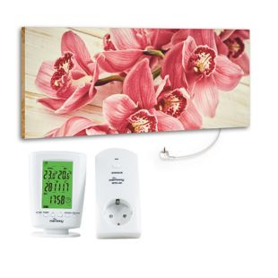 """Marmony 800W Infrarot-Heizung Motiv """"Pink Orchidee"""" mit Thermostat MTC-40"""