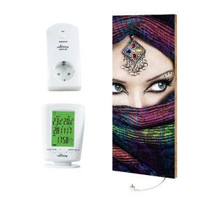 """Marmony 800W Infrarot-Heizung Motiv """"Arabic Eyes 2"""" mit Thermostat MTC-40"""