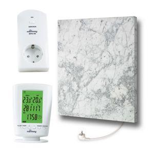 Marmony Infrarotheizung C480Plus (500W) Carrara mit Thermostat MTC-40