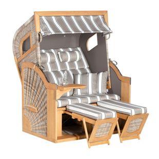 SunnySmart Strandkorb 405 Z Comfort XL, antik-weiß