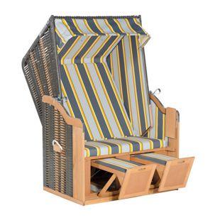 SunnySmart Strandkorb 50 Basic, Grau-gelb