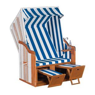 SunnySmart Strandkorb 50 Basic, blau-weiß