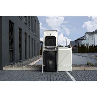 Hide Mülltonnenbox 140l Kunststoff; 1er Box, schwarz