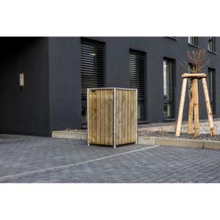 Hide Mülltonnenbox 240l Kunststoff, 1er Box, natur