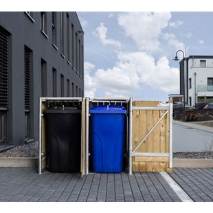 Hide Mülltonnenbox 140l Holz, 2er Box, natur